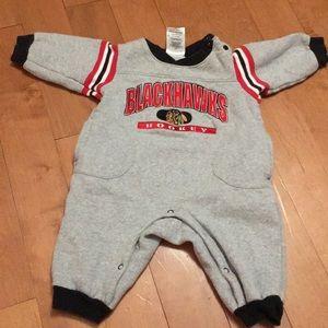 Blackhawks baby boy body suit winter 6-9